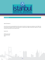Tam Metin (PDF) - Istanbul Medical Journal
