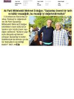 Yayın Adı : Gaziantep te Zafer Gazetesi Yayın Tarihi : 01.10.2014