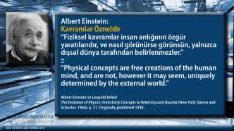 """Albert Einstein: Kavramlar Özneldir """"Fiziksel kavramlar insan"""