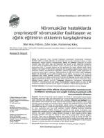 Nbromuskiiier hastaliklarda