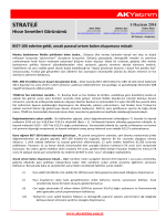 Ak Yatırım Strateji Raporu