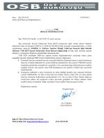 Sayı : YK.2014/167 22/05/2014 Konu: KEP Başvuru Bilgilendirmesi