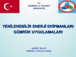YEE Gümrük Uygulamaları, Ahmet BALCI Sunumu