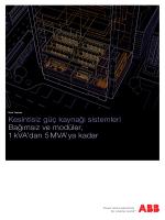 Kesintisiz güç kaynağı sistemleri Bağımsız ve modüler, 1 kVA