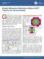 Sürekli Mıknatıslı Motorların Motor-CAD Yazılımı ile