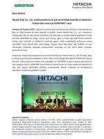 Basın Bülteni Hitachi Koki Co., Ltd