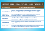 18 NİSAN 2014 - CUMA / 17:00 - 18:00 / SALON