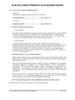 30.06.2014 tarihi itibariyle aylık bildirim raporu