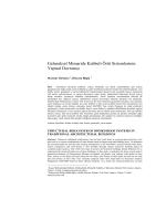 Geleneksel Mimaride Kubbeli Örtü Sistemlerinin