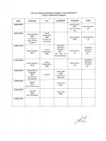 Moleküler Biyoloji ve Genetik Ders Programı