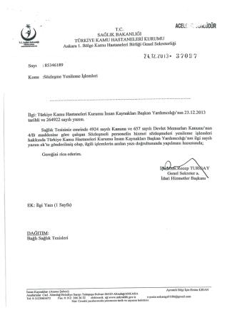 657-4b sözleşme yenileme işlemleri hk