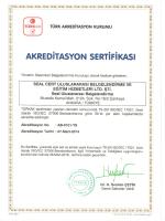 TURKAK Akreditasyon Sertifikası