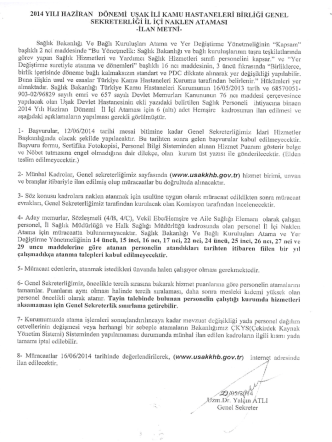 Belge-2 - Uşak Kamu Hastaneleri Birliği
