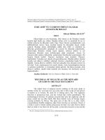 ANKET 1 - Sosyal Bilimler Enstitüsü Dergisi
