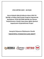 BUTGEM - Endüstriyel Otomasyon Alanı Anketi