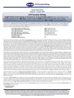 PRESS RELEASE - JCR Eurasia Rating