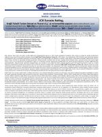 PRESS RELEASE - JCR Eurasia Rating