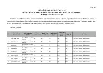 27/06/2014 iktisadi ve idari bilimler fakültesi
