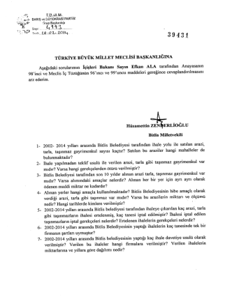 39431 - Türkiye Büyük Millet Meclisi