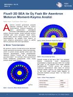 Flux® 2D SEA ile Üç Fazlı Bir Asenkron Motorun Moment