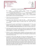 GAYRİMENKUL SATIŞI ÖNCESİ PROTOKOL İşbu protokol