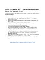 Sosyal Yardım Fonu (SYF) / Aktif Burslu Öğrenci (ABÖ) Başvuruları