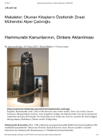 Hammurabi Kanunlarının, Dinlere Aktarılması