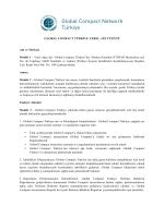 GLOBAL COMPACT TÜRKİYE YEREL AĞI TÜZÜĞÜ Adı ve Merkezi