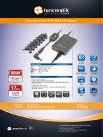 Powernote Slim 90W Türkçe Data Sheet