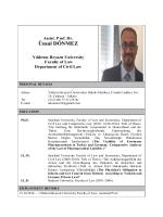 Assist. Prof. Dr. Ünsal DÖNMEZ - Yıldırım Beyazıt Üniversitesi