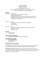 Detaylı özgeçmiş - Çankaya Üniversitesi Malzeme Bilimi ve