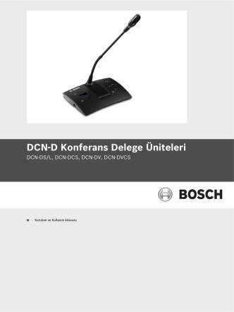 DCN-D Konferans Delege Üniteleri