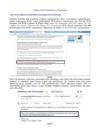 Cadence OrCAD Kurulum ve Simulasyon http://www.cadence.com