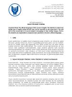 yasar unıversıty faculty of archıtecture department of archıtecture