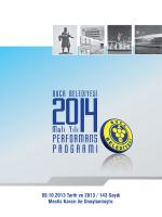Buca Belediyesi 2014 Mali Yılı Performans Programı