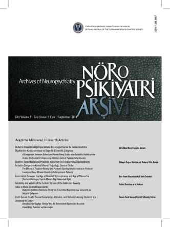 Cilt / Volume 51 Sayı / Issue 3 Eylül / September 2014 Araştırma