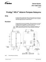 Prodigy HDLV Aktarım Pompası İstasyonu