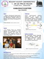 Kablosuz Elektrik - BEÜ I. AR-GE Proje Pazarı