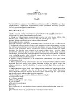 T.C. vALovA V cUıvıHURIYET BAŞsAvcıGI
