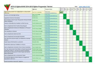 2014-15 Eğitim Takvimi