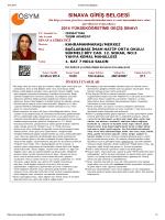 sınava giriş belgesi