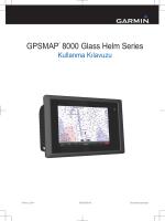 GPSMAP 8015 Kullanım Kılavuzu