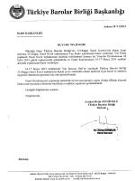 Eki: Liste - Türkiye Barolar Birliği