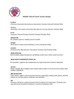 Teknik Terimler Sözlüğü - Ak