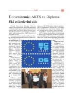 Üniversitemiz, AKTS ve Diploma Eki etiketlerini ald›