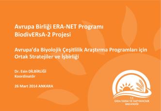 AB 7. Çerçeve ERA-Net Programı kapsamında Tarımsal Araştırmalar