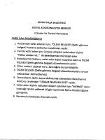 MuRATPAşA BELEDİYESİ sosYAL KOORDİNASYON MERKEZİ