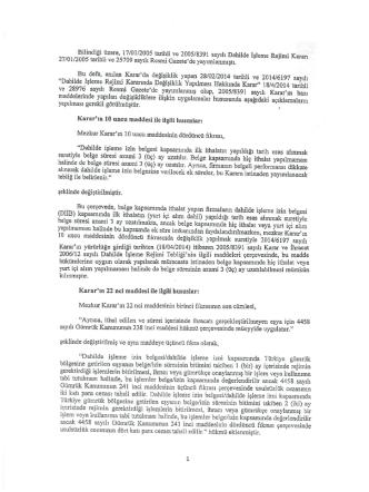 Değişikliklere İlişkin Açıklamalar (4 sayfa)