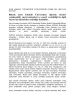Bilecik Şeyh Edebali Üniversitesi Yenilenebilir Enerji Kış Okuluna