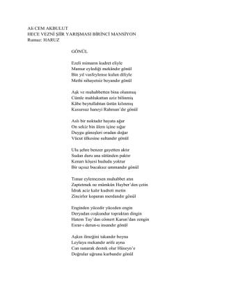 """Ali Cem AKBULUT """"GÖNÜL """""""